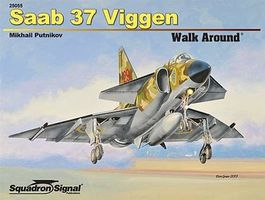 Squadron SAAB 37 Viggen Walk Around Authentic Scale Model Airplane Book #25055