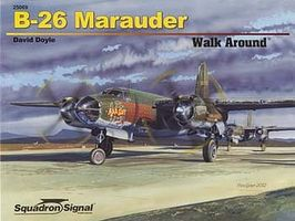 Squadron B-26 Marauder Walk Around Authentic Scale Model Airplane Book #25069