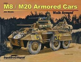 Squadron M8/M20 Armored Car Authentic Scale Tank Vehicle Book #27030