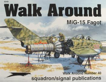 Squadron MiG-15 Walk Around Authentic Scale Model Airplane Book #5540
