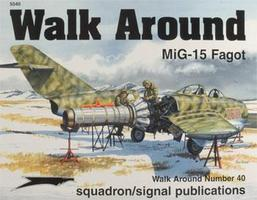 MiG-15 Walk Around Authentic Scale Model Airplane Book #5540