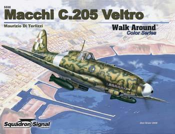Squadron/Signal Publications Macchi C.205 Walk Around Color -- Authentic Scale Model Airplane Book -- #5558