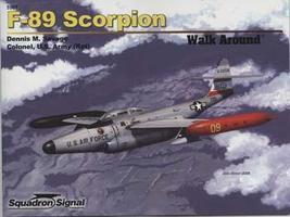 Squadron F-89 Scorpion Walk Around Authentic Scale Model Airplane Book #5561