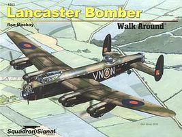 Squadron Lancaster Bomber Walk Around Authentic Scale Model Airplane Book #5563
