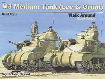 Squadron M3 Medium Tank Color Walk Around Authentic Scale Tank Vehicle Book #5712