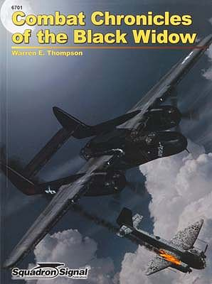 Squadron Combat Chronicles Black Widow Authentic Scale Model Airplane Book #6701