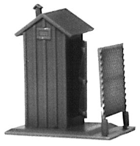 State Tool & Die Railroad Privy/Outhouse - (Plastic Kit - C&O Design) -- Single Kit - HO-Scale