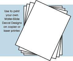 Stevens 8-1/2''x11'' White Decal Paper (4/pk) (for laser printer or copier)