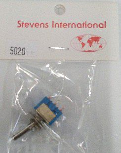 Stevens Micro Off-On Single-Pole Toggle Switch (up to 14v)