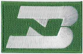 Sundance Burlington Northern (Green, White Logo) 2-1/4 Horizontal Cloth Railroad Patch #71006