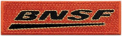 Sundance Marketing BNSF (Post-2007 Wedge Logo) 2-3/4'' Horizontal -- Cloth Railroad Patch -- #71010