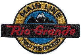 Sundance Denver & Rio Grande Western (Black, Orange, Mainline) Cloth Railroad Patch #71032
