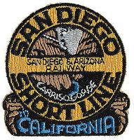 Sundance San Diego & Arizona (Short Line) 2'' Horizontal Cloth Railroad Patch #71038