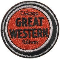 Sundance Chicago Great Western (Lucky Strike, Orange, Black, White) 2 Cloth Railroad Patch #72017