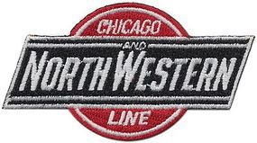 Sundance Chicago & North Western (Ball & Bar, Red, Black, White) Cloth Railroad Patch #72020