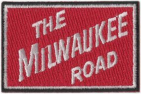 Sundance Milwaukee Road (The Milwaukee Road, Red, White) 2-5/8 Horizontal Cloth Railroad Patch #72041