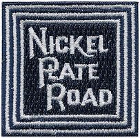 Sundance Nickel Plate Road (Blue, White) 1-3/4'' Square Cloth Railroad Patch #72048