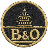 Sundance Baltimore & Ohio (Capitol Dome, Black, Yellow) 2 Diameter Cloth Railroad Patch #73003
