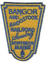 Sundance Bangor & Aroostook (Shield, Yellow, Blue) 2-3/8'' Vertical Cloth Railroad Patch #73005