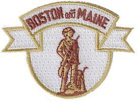 Sundance Boston & Maine (Minuteman, White, Maroon, Yellow) 2-1/2 Cloth Railroad Patch #73007
