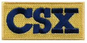 Sundance CSX (Yellow, Blue) 2-3/8 Horizontal Cloth Railroad Patch #73018