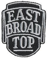 Sundance East Broad Top (Black, Silver) 2'' Vertical Cloth Railroad Patch #73027