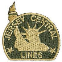 Sundance Central Railroad of New Jersey (Liberty, Green, Gold) 2'' Cloth Railroad Patch #73042