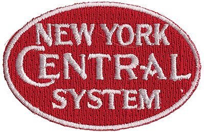 Sundance Marketing New York Central (System, Red, White) 2-3/8'' Horizontal -- Cloth Railroad Patch -- #73060