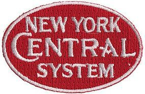 New York Central (System, Red, White) 2-3/8'' Horizontal Cloth Railroad Patch #73060