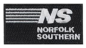 Sundance Norfolk Southern (Stripes, Black, White) 2-5/8 Horizontal Cloth Railroad Patch #73063