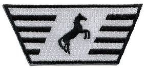 Sundance Norfolk Southern (Diesel Nose Thoroughbred, Black, White) 2-5/8'' Cloth Railroad Patch #73066