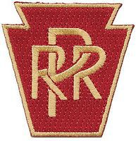 Sundance Pennsylvania Keystone 2 Vertical (Red, Gold) Cloth Railroad Patch #73078