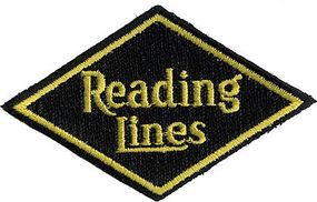 Sundance Reading (Diamond, Black, Yellow) 3 Horizontal Cloth Railroad Patch #73084