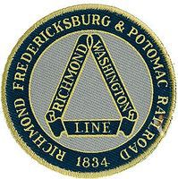 Sundance Richmond, Fredericksburg & Potomac (Blue, Gray, Yellow) 2 Cloth Railroad Patch #73087