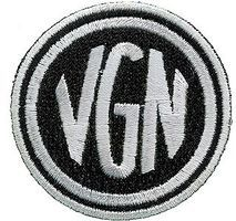 Sundance Virginian (Black, White) 2 Diameter Cloth Railroad Patch #73100