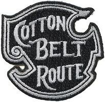 Sundance Cotton Belt/SSW (Black, White) 2 Horizontal Cloth Railroad Patch #74009