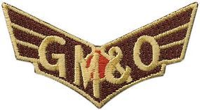 Sundance Gulf, Mobile & Ohio (Wings, Maroon, Red) 2-5/8'' Horizontal Cloth Railroad Patch #74031