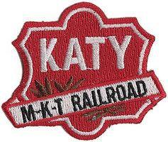 Sundance Missouri-Kansas-Texas (Katy Shield, Red, White) 2-1/4'' Horizontal Cloth Railroad Patch #74045
