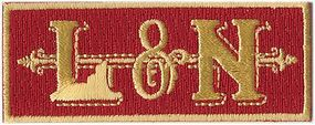 Sundance Louisville & Nashville (Red, Gold) 2-5/8'' Horizontal Cloth Railroad Patch #74051