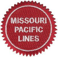 Sundance Missouri Pacific (Buzz Saw, Red, White) 2 Diameter Cloth Railroad Patch #74060