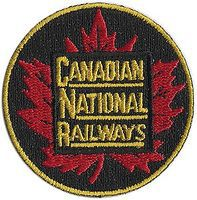 Sundance Canadian National (Maple Leaf, Red, Green, Yellow) 2 Diameter Cloth Railroad Patch #75015