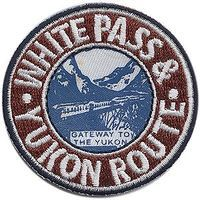 Sundance White Pass & Yukon (Red, Blue, White) 2 Diameter Cloth Railroad Patch #75092