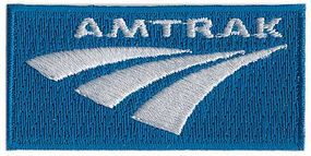 Sundance Amtrak (Post-2001 Logo, Blue, White) 2-1/2 Horizontal Cloth Railroad Patch #76012
