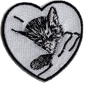 Sundance Chesapeake & Ohio (Chessie Kitten in Heart, White, Black) 2 Cloth Railroad Patch #76026