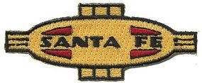 Sundance Santa Fe (Warbonnet Nose/Cigar Band, Yellow, Red, Black) 2-3/4 Cloth Railroad Patch #76077