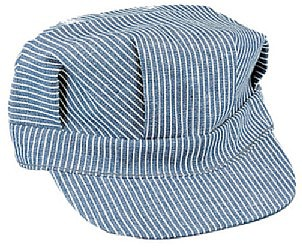 Stevens-Hats Blue/White Child Size Engineer Cap w/Adjustable Strap