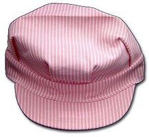 Stevens-Hats Pink/White Adult Size Engineer Cap w/Adjustable Strap