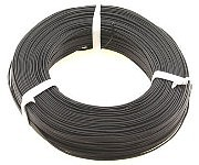 Stevens-Motors 22 Gauge Single Strand Copper Plastic Coated Wire Black, 32/Roll