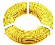 Stevens-Motors 22 Gauge Single Strand Copper Plastic Coated Wire Yellow, 32/Roll