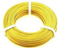 Stevens-Motors 22 Gauge Single Strand Copper Plastic Coated Wire Yellow, 32'/Roll